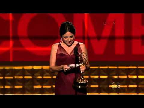 Julia Louis Dreyfus wins an Emmy Award for Veep 2012