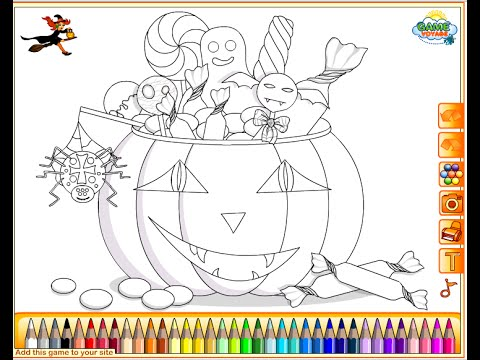Halloween Candy Coloring Pages For Kids