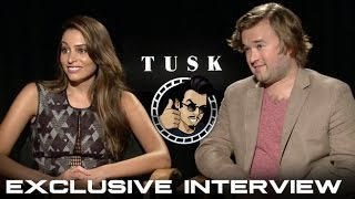 Genesis Rodriguez & Haley Joel Osment Interview - Tusk (HD) 2014