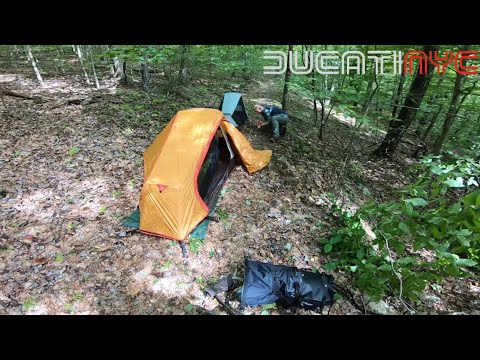 Building the Tent, Busting the Balls - Moto Camping Club HQ1 - pt2 v1083