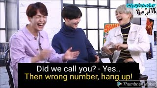 SHINee Hilarious Phonecall With Key & Jonghyun [FUNNY] 😂
