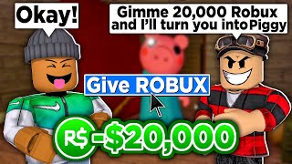 This Roblox PIGGY game scammed me...