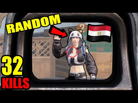 A VERY GOOD RANDOM PLAYER FROM EGYPT | HAND CAM | DUO VS SQUAD | PUBG MOBILE