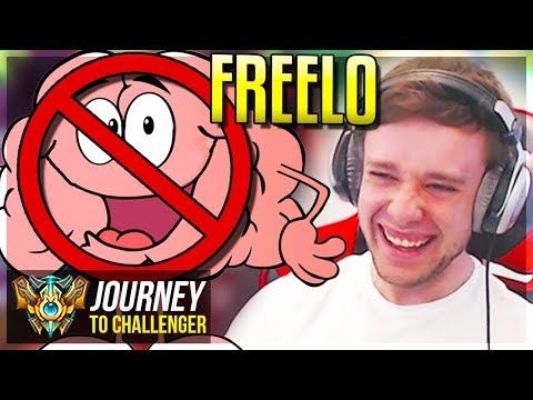 THIS CHAMP = BRAIN OFF GET FREELO - Journey To Challenger  League of Legends