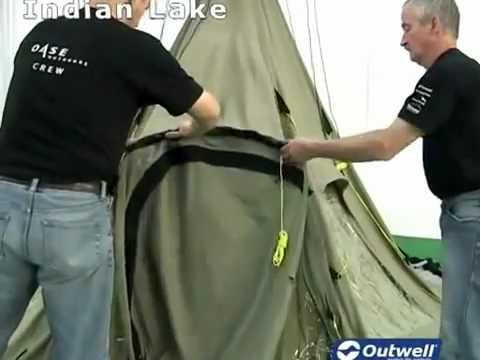 How to pitch the Outwell Indian Lake tent At outdoor action blackburn - YouTube & How to pitch the Outwell Indian Lake tent At outdoor action ...