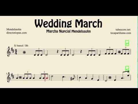 Mendelssohn Wedding March Sheet Music for tenor saxophone soprano saxophone trumpet and clarinet