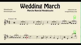 Video Mendelssohn Wedding March Sheet Music for tenor saxophone soprano saxophone trumpet and clarinet download MP3, 3GP, MP4, WEBM, AVI, FLV Agustus 2018