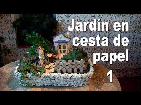 036. Jardín en cesta de papel de periódico
