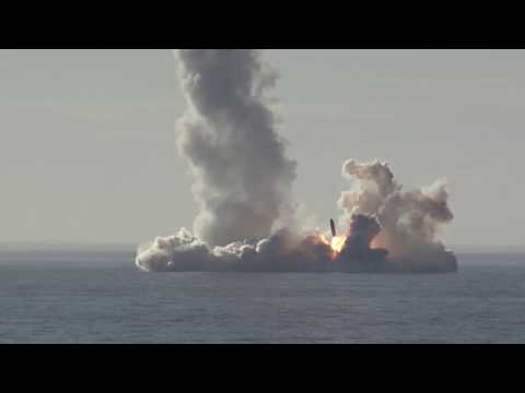 RAW: Russian nuclear sub launches Bulava missiles in barrage (MoD footage)