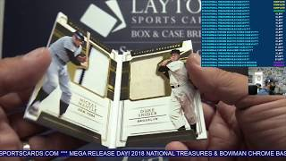 2018 Panini National Treasures Baseball 4 Box Case Break #4