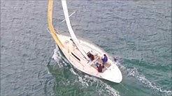 Location voilier First 32 Saint Malo - navigation sur la rance vue du drone