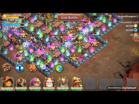 Beating Insane Dungeon 3-9! Castle Clash