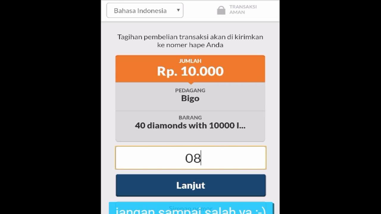 Transaksi Menggunakan Codapay Dengan Pulsa Indosat Youtube Kartu Perdana 0k