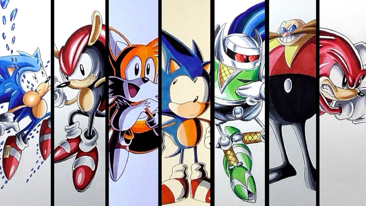 It is a picture of Inventive Drawing Sonic Characters