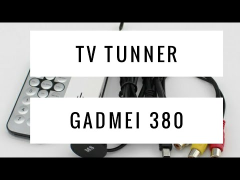 Unboxing USB TV TUNNER GADMEI 380 (Indonesia)
