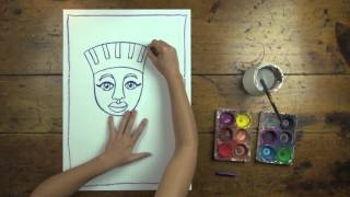FREE! Egyptian Mummy Artwork step-by-step