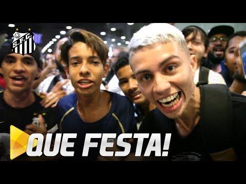 SANTOS É RECEBIDO COM FESTA EM FORTALEZA