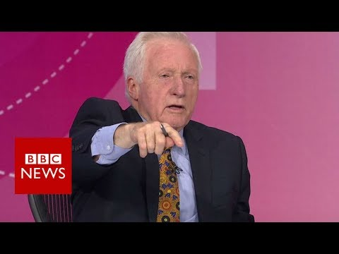 Question Time host Dimbleby boots out audience member - BBC News