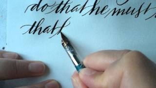 Dorothy Osborne to Sir William Temple (Letter writing in modern calligraphy)