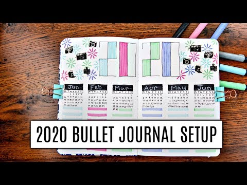 2020 BULLET JOURNAL SETUP | NEW ARCHER AND OLIVE BUJO | PLAN WITH ME