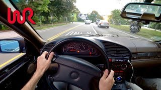 Big TURBO 1995 BMW 325i - Tedward POV Test Drive (Binaural Audio)