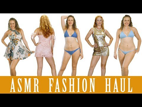 ASMR Fashion Haul: Swimwear & Dresses from Zaful! 3Dio Whispers & Fabric Sounds!