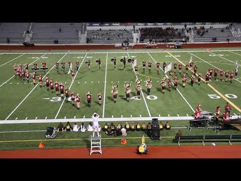 Shawnee Mission West High School Marching Band playing Alcatraz, Mvmt 1
