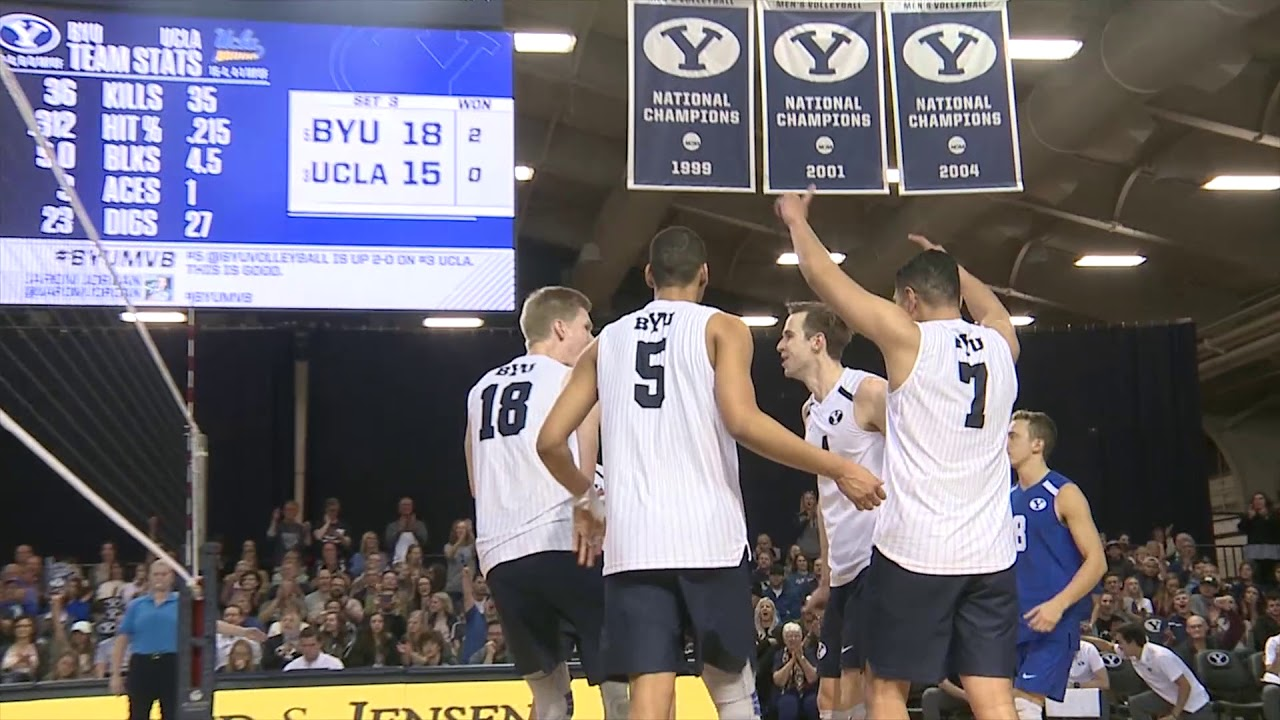 Men's Volleyball - BYU vs UCLA March 3rd 2018 - YouTube