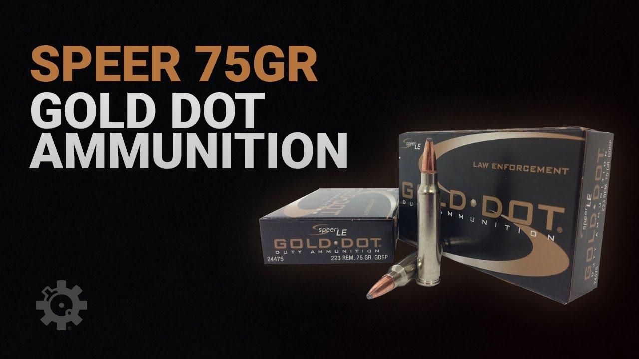 Speer 75gr Gold Dot Ammunition