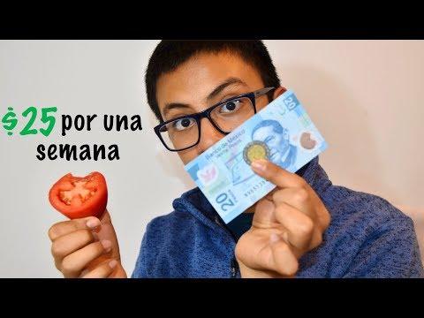 COMIENDO CON $25 por UNA SEMANA
