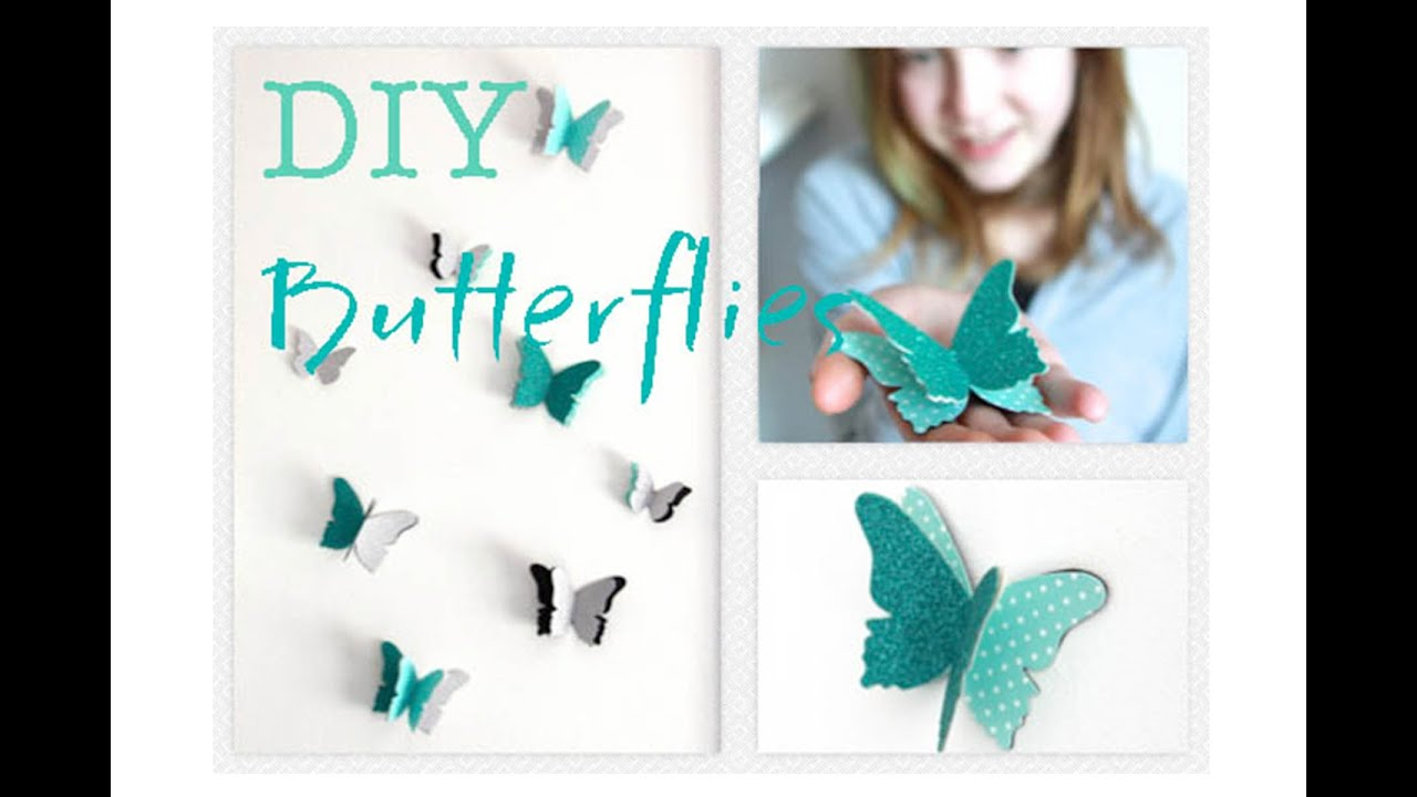 sc 1 st  YouTube & DIY Butterfly Wall Decals | Decorations That Impress - YouTube