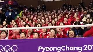 North Korean cheering squad