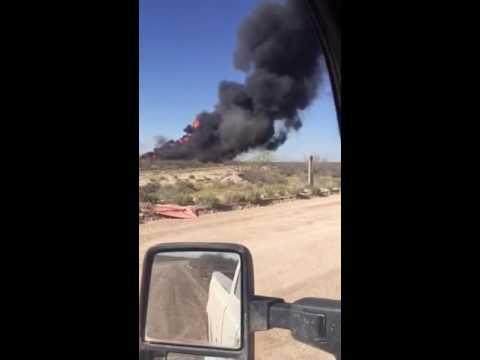 West Texas Occidental Petroleum Tank battery Blew up.