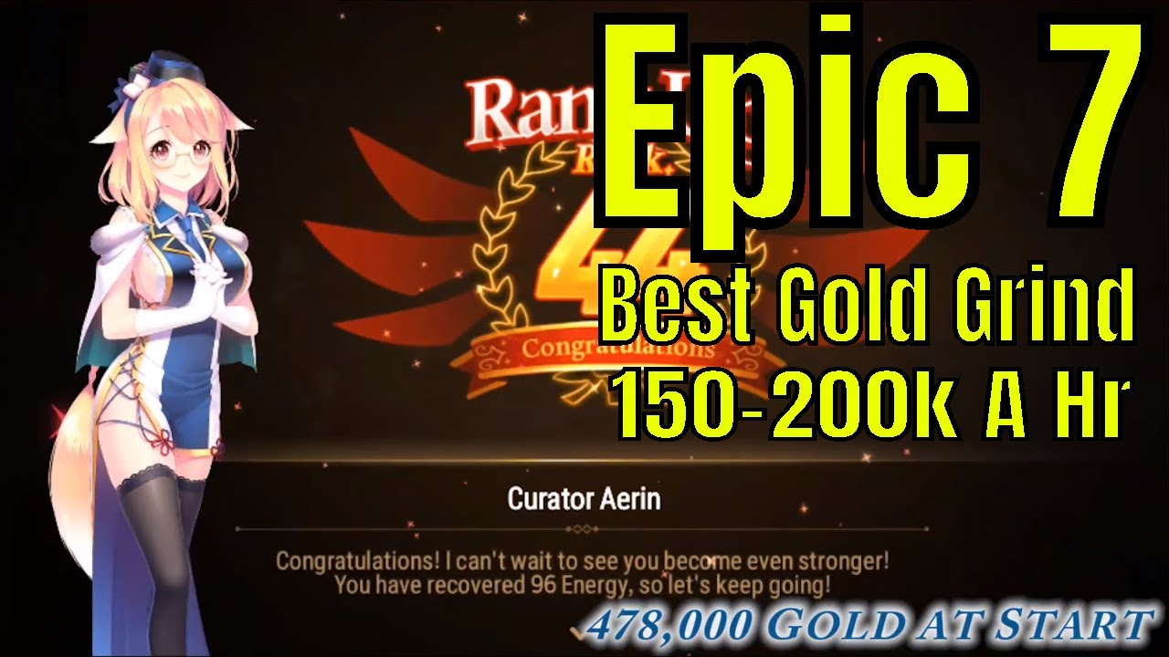 Epic Seven: Best Gold Grind Method In Game Currently