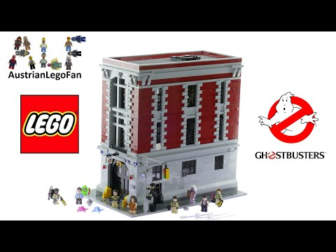 """Lego Ghostbusters 75827 Firehouse Headquarters - Lego Speed Build Review: Lego Ghostbusters 75827 Firehouse Headquarters 4634 pcs $349,99 - €349,99 Year 2016 Lego 75827 Review   Get ready to bust some ghosts at the Firehouse Headquarters!  There's definitely something strange in this neighborhood! Slide down the fire pole into action, power up the proton packs and start zapping! The Ghostbusters™ are chasing Slimer and other mischievous ghosts. Round them up in the containment unit! Take samples of slime to the lab and analyze photos in the darkroom. Or grab a pizza and relax with a game of pool in this detailed play set packed with features true to the movie classics!      Includes 9 minifigures: Peter Venkman, Raymond Stantz, Egon Spengler, Winston Zeddemore, Janine Melnitz, Dana Barrett, Louis Tully, Zombie Driver and Library Ghost.     Also comes with Slimer, Pink Ghost and Blue Ghost.     Slide the Ghostbusters™ heroes down the fire pole into action.     Chase the ghosts and secure them in the containment unit.     Turn the librarian old lady into a scary ghost with the double-sided face and extra wig!     Run tests on Louis in the lab to see if he's possessed!     Suspend ghosts around the building's exterior with attachable transparent arms.     Dodge the slime oozing up through cracks in the pavement.     Accessory elements include an alarm bell, fire extinguisher, computer, phone, toolbox, tools, jars of slimes, magnifying glass, camera, camera rolls, arcade game, toaster with slime, fridge with frozen pizza, milk and cheese, and much more!     Features opening walls for easy play access.     Features over 4,600 pieces.     Ghostbusters™ minifigures comewith decorated arms.     Measures over 14"""" (36cm) high, 9"""" (25cm) wide and 14"""" (38cm) deep.     With walls opened out, measures over 14"""" (36cm) high, 18"""" (46 cm) wide and 14"""" (38cm) deep.     Firehouse Headquarters doors can open to fit the 21108 LEGO® Ideas Ghostbusters Ecto-1 inside!  Lego 2016 Lego Sets 2"""