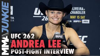 Andrea Lee recaps tiring triangle-armbar win to snap skid | UFC 262 interview