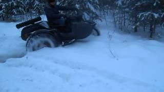 Мега Дрифт на мотоцикле урал 2WD (полноприводный)(Drift on a motorcycle Ural 2WD (AWD), 2012-12-16T10:12:43.000Z)