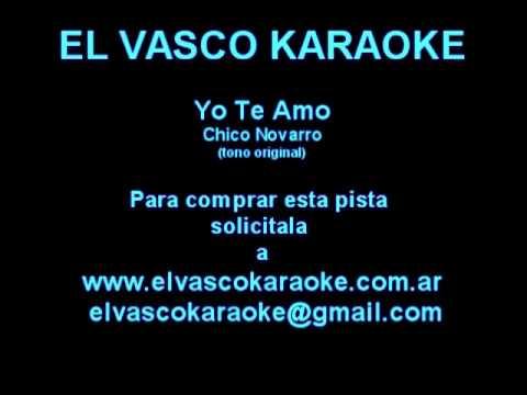 Chico Novarro   Yo Te Amo Demo Karaoke