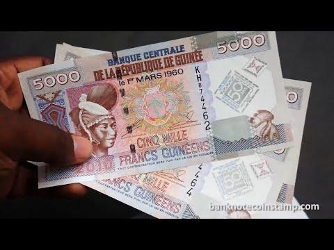 Guinea 5000 Francs Fulani Peul woman