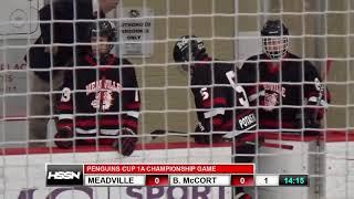 PIHL Penguins Cup Playoffs Class 1A Championship - Meadville vs Bishop McCort