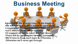 Useful phrases for Business Meeting in English