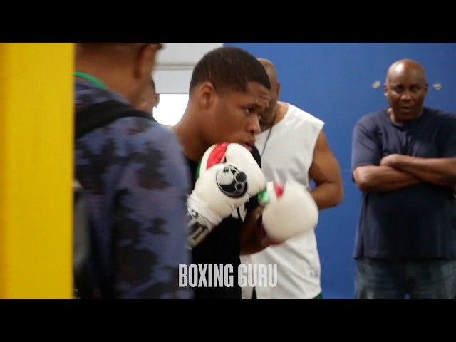 DEVIN HANEY TRAINING HIGHLIGHTS - BONES ADAMS GYM, LAS VEGAS FT HALL OF FAMER MIKE MCCALLUM