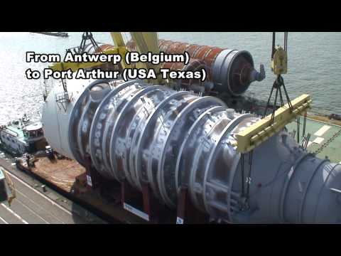 Jumbo Shipping: Loading of a 1200t Vacuum Tower in Antwerp (Belgium)