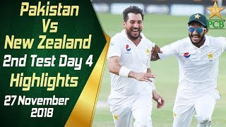 Pakistan Vs New Zealand | Highlights | 2nd Test Day 4 | 27 November 2018 | PCB