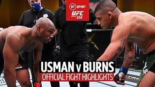 Kamaru Usman v Gilbert Burns UFC 258 Highlights