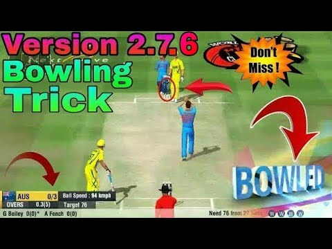 Wcc2 New Version (2.7.6) Bowling Trick | Wcc2 2018 Update Bowling Tips | Wcc2 Bowling tips |