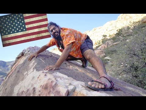USA WILDERNESS SURVIVAL! - Surviving in Red Rocks Nevada