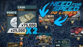 Need For Speed No Limits 150,000 Cash and 50,000 Visual Points in less then 3 min