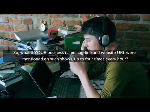 Your Business Mentioned On Radio Show x4