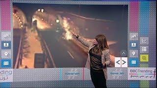 فيديو..سيارة بي إم دبليو تصطدم بسقف نفق في حادث مروع   #بي_بي_سي_ترندينغ